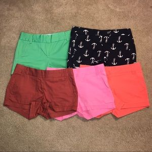 FIVE FOR ONE JCrew Shorts, All Size 0